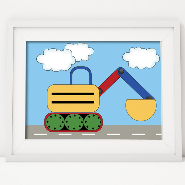 Under Construction Kids Wall Art Print Poster By Wall To Wall Design Studio